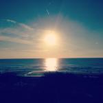 Zonsondergang bij Fleurs Finest volle maan yoga en meditatie